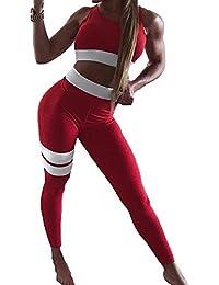 ecc828df7b97 Kootk Women Yoga Suit 2 Piece Outfit Sport Wear Ladies Tracksuit Set  Jogging Gym Fitness Sport
