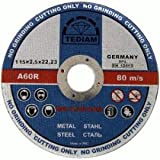 TOP QUALITY Pack of 10 x Ultra thin 115 x 2.5mm Angle Grinder Circular Saw- Stainless steel cuttings dics - metal cutting slitting discs
