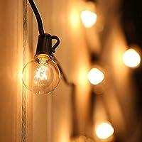 Tomshine Cadena de Luz G40 Guirnaldas luminosas de Exterior con 25 Bombillas Incandescentes Perfecto para Jardín Patio Trasero Fiesta Navidad (2 Bombilla de Repuesto), 7.62 m
