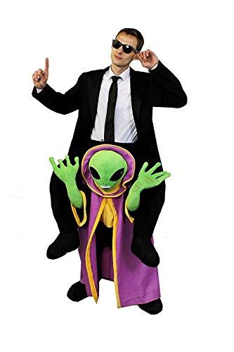 ILOVEFANCYDRESS Alien JÄGER =MÄNNER SCHWARZEN ANZÜGEN Film FERNSEHN= Alien KOSTÜM -Alien Unterteil+Anzug+Krawatte+Brille=KOMPLETTES - Aliens Kostüm Aus Filmen