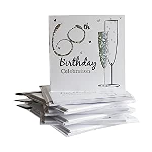 60th Birthday Party Invitations {Holographic} 36 Multipack Cards With Envelopes