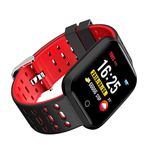 Haludock Multi-Funktion Bluetooth Bracelet IP67 Waterproof Touch Screen 1.3inch Color Screen Heart Rate Blood Pressure Monitor Pedometer Smart Watches für IOS/Android (42-touch-screen-monitor)