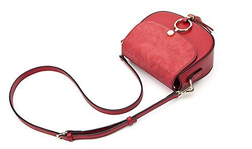 Xinmaoyuan Borse donna cerchio infiorescenza staminifera borsette Leisure sella borsa tracolla messenger bag,rosso Rosso