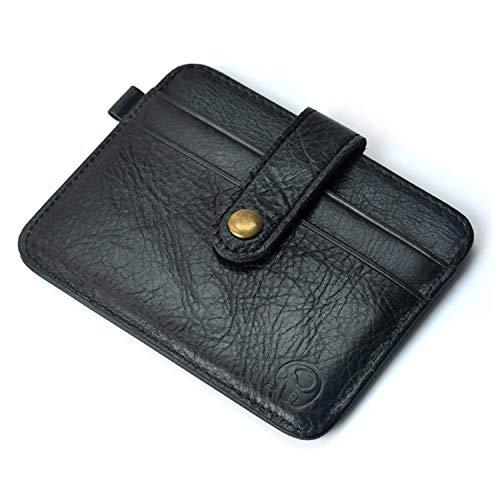 Porte Carte de Crédit en Cuir, Mini Portefeuille pour Poches de Pantalon ou Veste, Cadeau de Saint Valentin ou de Noël pour Hommes