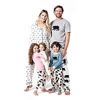 بيجامة ليتل بلو هاوس باي هاتلي بير فاميلي Women's Long Sleeve Pajama Set - Black Bears on Natural Medium