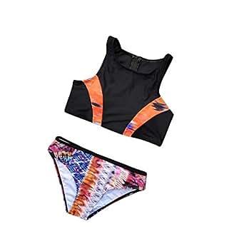 a4fe3846fdd7 Immagine non disponibile. Immagine non disponibile per. Colore: SMENGG  Bikini Abbigliamento da Spiaggia Costume da Bagno a Due Pezzi ...