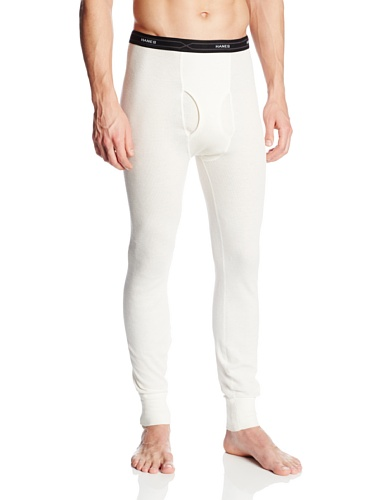 hanes-para-hombre-algodon-termico-largo-ropa-interior-pantalones-marron-natural-large