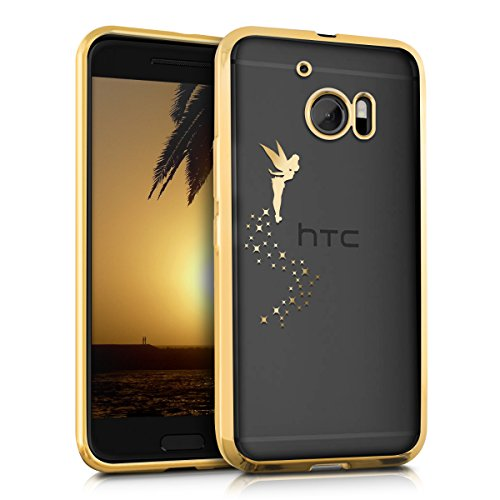 kwmobile HTC 10 Hülle - Handyhülle für HTC 10 - Handy Case in Gold Transparent