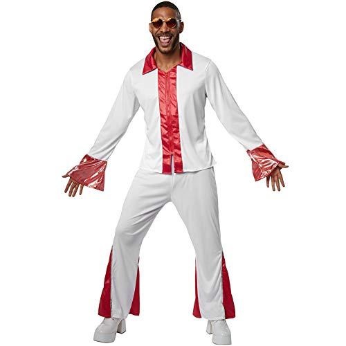 dressforfun 900470 - Herrenkostüm Disco Dancer, Langarmhemd mit Trompetenärmeln und Schlaghose (L | Nr. 302152) (Disco-outfit Für Männer)