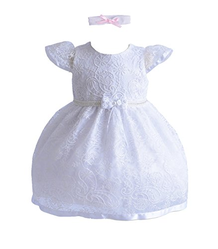 Cinda Mädchen Taufe/Partykleid Weiß 80-86