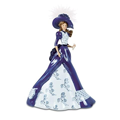 The Bradford Exchange 'Fiona' - Blue Willow China Pattern Figuring - Handcrafted Handpainted Artist's