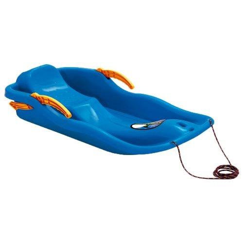 Bob Schlitten Prosperplast RACE blau Schneegleiter Kunststoff Kinderschlitten Rodel