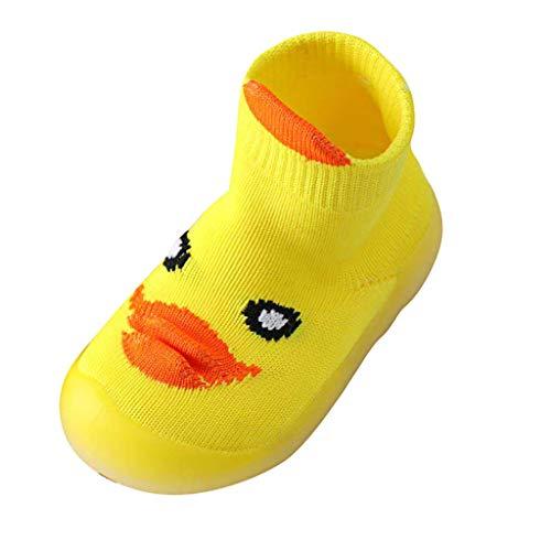 Mädchen Jungen Cartoon Nette Gestrickte Atmungsaktive Schuhe Outdoor shoes Kleine gelbe Ente Badeschuhe