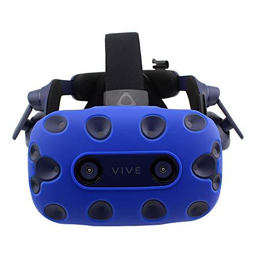 AMVR VR Headset Funda Protectora Piel de Silicona para HTC Vive Pro (Azul)