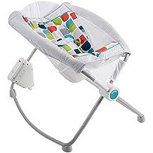 Fisher-Price FWX18 Automatische Babywiege Babyschaukel und Sitz mit beruhigenden Melodien Babyerstausstattung, ab 0 Monaten