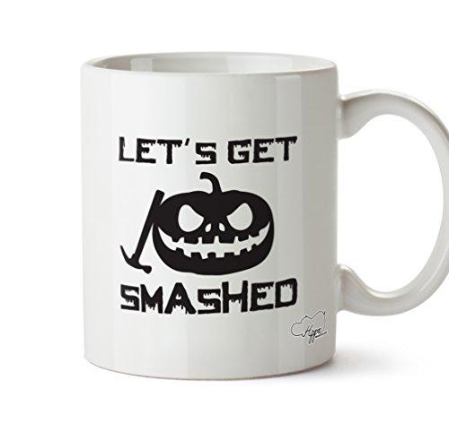 s Get zerstörten Halloween Kürbis 283,5Tasse, keramik, weiß, One Size (10oz) (Halloween-humor Tumblr)