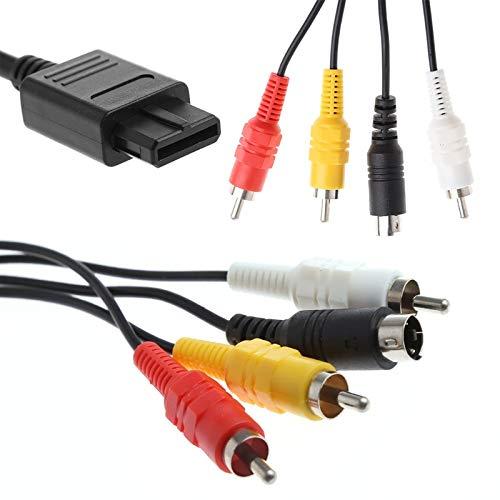 Gimax AV TV S-Video Super für Nintendo für Gamecube 64 für SNES für N64 AV-Kabel (1,8 m) -