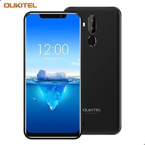 Handy ohne Vertrag, OUKITEL C12 PRO Android 8 Smartphone 6.18 Zoll (19:9 Display) 3300mAh Akku 2GB RAM 16GB Interner Speicher 13MP+5MP Dual Kameras Dual SIM Smartphone mit Fingerabdruck-Schwarz