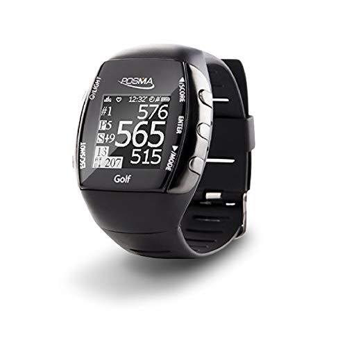 POSMA Neue GM2Golf Fitness GPS-Uhr-Entfernungsmesser-Activity Tracker mit eingebautem grünes Licht Herzfrequenz Monitor, Bluetooth Android iOS App, um Connect mit Smartphone und iPhone