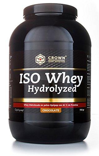 Crown Sport Nutrition ISO Whey Hydrolyzed Proteína de Suero de Leche Hidrolizada, Sabor de Chocolate   918 gr