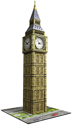 Ravensburger Italy- Puzzle 3D Big Ben con Orologio Funzionante, Multicolore, 12586