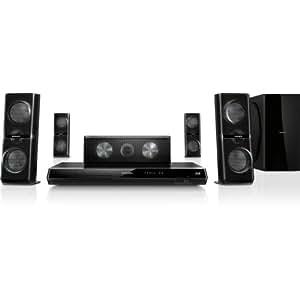 Philips HTB7530D/12 5.1 Heimkinosystem mit 3D-Lautsprechern (Full HD, 3D Blu-ray, Apple Dockl, 1000 Watt) schwarz