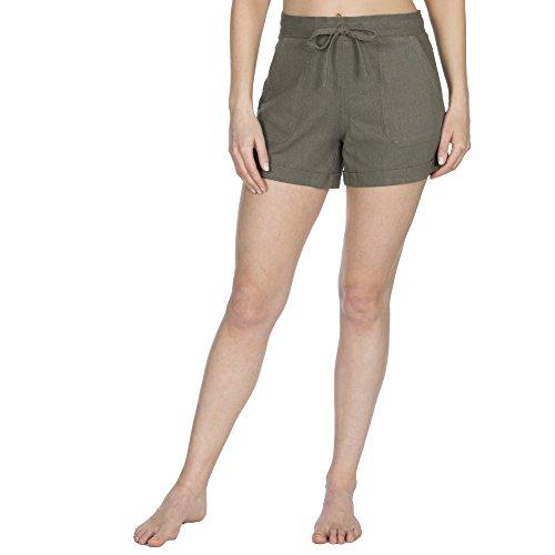 Metzuyan Ladies Linen Shorts with Pockets - Summer Beach Hot Pants