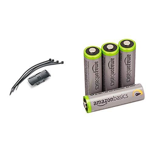 Garmin Fahrrad-/ Golfcarthalterung & AmazonBasics Vorgeladene NI-MH AA-Akkus - Akkubatterien, 500Zyklen (typisch 2500mAh, minimal 2400mAh), 4Stck (Äußere Hülle kann von Darstellung abweichen)