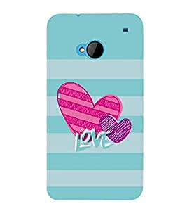 FUSON Valentine'S Day Love Card 3D Hard Polycarbonate Designer Back Case Cover for HTC M7 :: HTC One M7