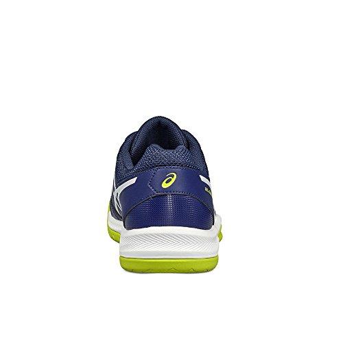 Asics Gel-Dedicate 5, Chaussures de Tennis Homme Indigo Blue / White / Safety Yellow