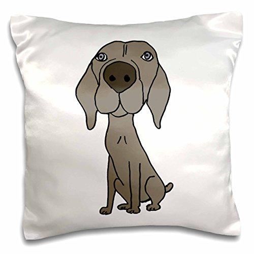 3dRose Cute Weimaraner Puppy Hund Cartoon-Kissen Fall, 16von 16Zoll (PC 200123_ 1) -