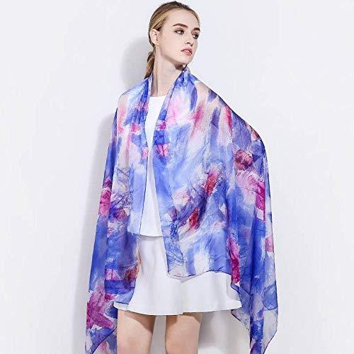 Jiss Damen Vintage Silk Schals Polka Dot Seide Frühling und Herbst Sommer Sonnencreme Langen Schal vielseitige Damen Vintage Silk Scarves Schal,Zwei,110 * 180cm
