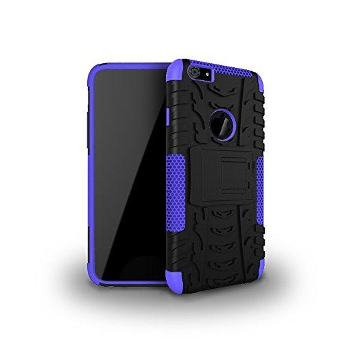 """MOONCASE iPhone 6S Coque, Double Couche d'Armure Lourde Case Hybride Anti-dérapante Absorbant Chocs Protection Étui avec Béquille pour iPhone 6 / 6S 4.7"""" Rouge Violet"""
