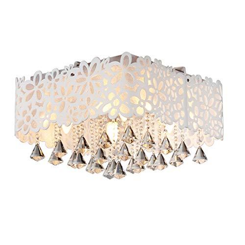 Spots de plafond Plafonnier Cristal Plafonnier Simple Moderne LED Chaud Romantique Plafond Allée Porche Salon Salle À Manger Lampe De Chambre (Color : Blanc, Size : 45 * 45 * 29cm)