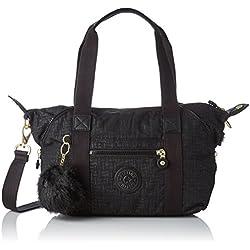 Kipling - Art Mini, Bolsos maletín Mujer, Negro (Black Pylon Emb), 18.5x34x21 cm (B x H T)