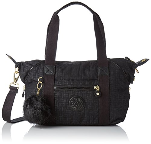 Kipling Art Mini - Borse a secchiello Donna, Nero (Black Pylon Emb), 18.5x34x21 cm (B x H T)