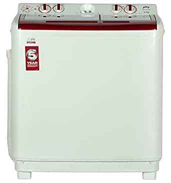 Godrej GWS 8502 PPL Semi-automatic Top-loading Washing Machine (8.5 kg, Red)