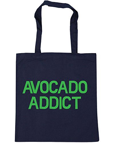 hippowarehouse-avocado-addict-tote-shopping-gym-beach-bag-42cm-x38cm-10-litres