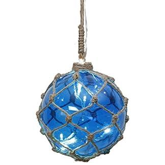 StarNoah-Glaskugel-mit-8-LED-Lichternblau-mit-Garnnetz-transparent-Kabel-Durchmesser-12-cm-Vierfarb-Karton-457-32