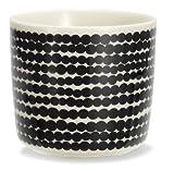 Marimekko - Räsymatto - Kaffeebecher - Steinzeug - Becher - weiß/schwarz - 200 ml