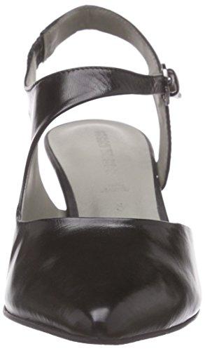 GERRY WEBER - Linette 03, Scarpe col tacco con cinturino a T Donna Nero (Nero (Nero 100))