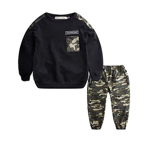 Julhold Teen Kinder Baby Jungen Einfache Lässige Kurze Trainingsanzug Tarnoberteile Haltenhosen 2 STÜCKE Outfits Set 1-11 Jahre
