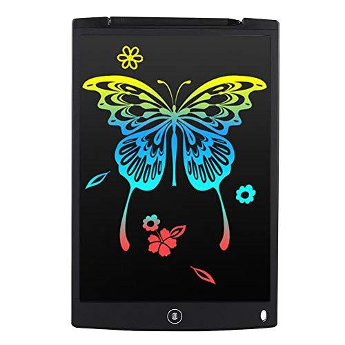 Fighrh 12-Zoll-Farbzeichnung LCD-Schreibtablett Digitale Zeichnung Elektronische ultradünne empfindliche Handschrift Pad Löschen Nachricht Grafikkarte Kinder Schreibtafel Kinder Geschenke -