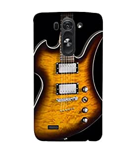 Lighting Guitar Strings 3D Hard Polycarbonate Designer Back Case Cover for LG G3 Beat :: LG G3 Vigor :: LG G3s :: LG g3s Dual