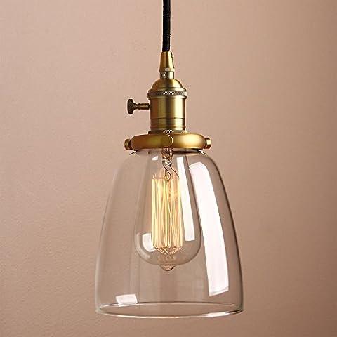 Pathson Industrial Vintage Modern Edison Hanging Pendant Ceiling Light Fixture