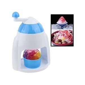 Mini broyeur à glace manuel machine à glace pilée manuelle blanc bleu
