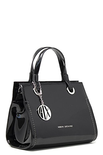 Armani Exchange Damen Small Shopping Bag Tote, Schwarz (Black), 21x13.5x27 cm