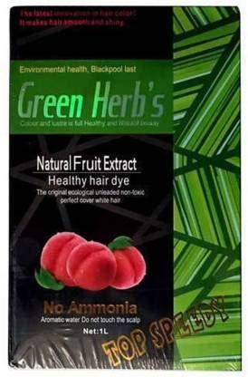 Green Herbs Natural Fruit Extract Healthy Hair Dye Hair Color (Black) 1000 ml