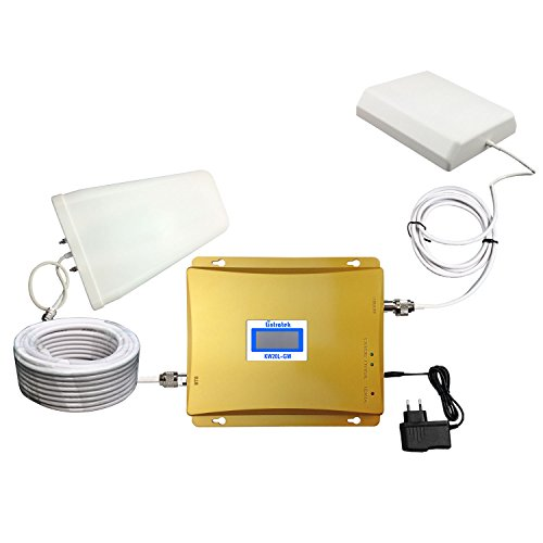 Lintratek Dual Band Mobile Phone Signal Booster GSM/3G Cell Signal Repeater with LCD