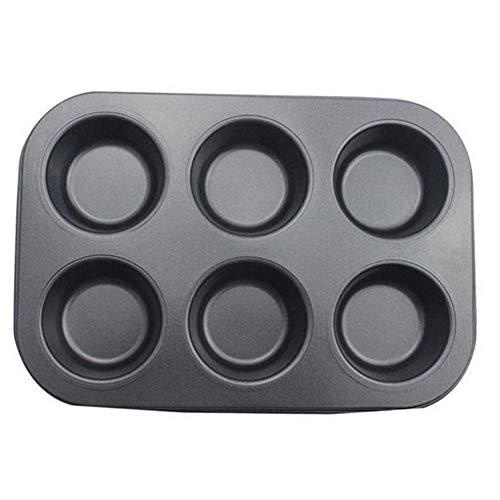 Vikenner Silikon Backform 6 Runde (Set von 1) DIY Kuchenform Klein für Schokolade, Kuchen, Brot, Brötchen -26.5 * 18.5 * 2.8cm (Schokolade Brötchen)